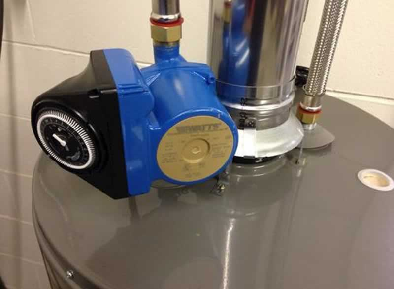The recirculating pump brings instantaneous hot water - recirculating pump