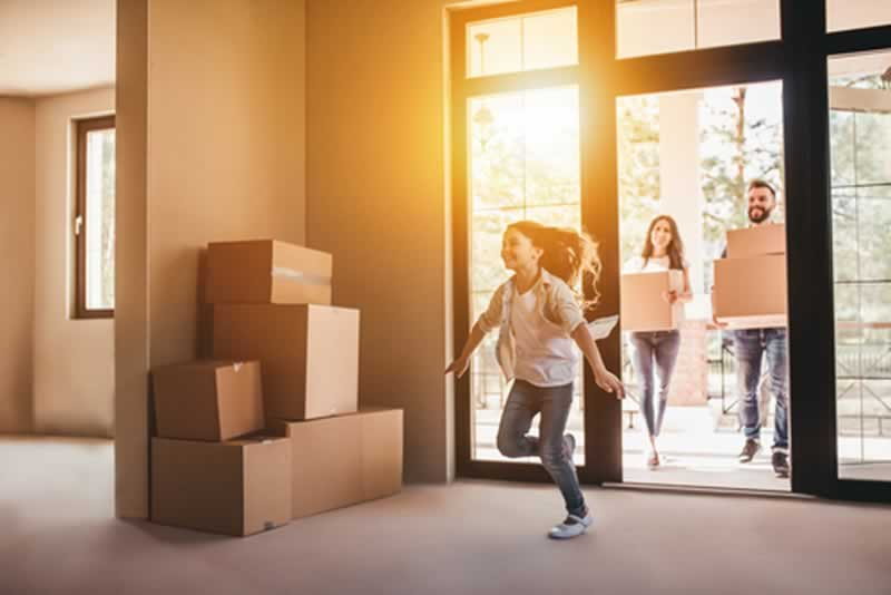 Tips To Preparing Yourself When Moving Home - happy children after move
