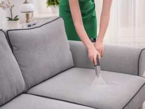 Cleaning after renovation - vacuuming furniture
