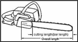 How to measure chainsaw bar and chain length - bar measuring