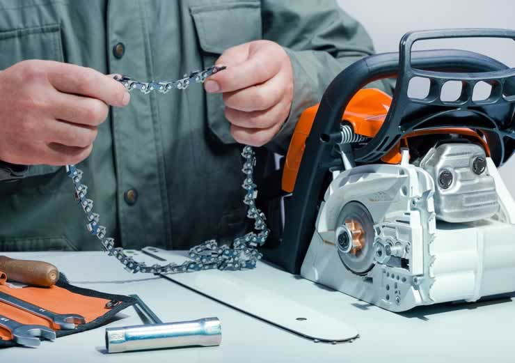 How to measure chainsaw bar and chain length - changing the chain