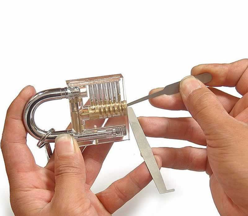 James Bond Tips For When You're Locked Out of the House - how to pick a padlock