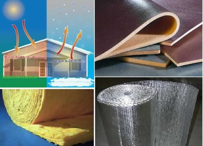 Most commonly used thermal insulators or heat resister in construction