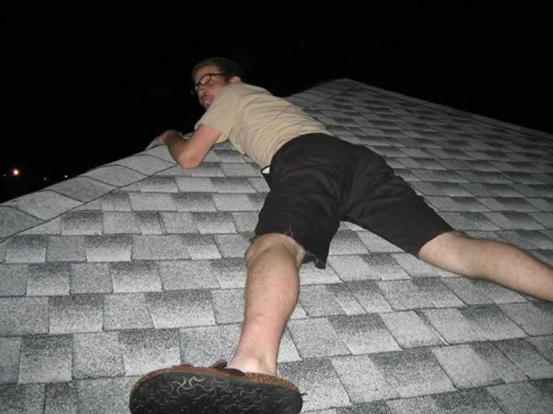 Repairing your roof - climbing on the roof