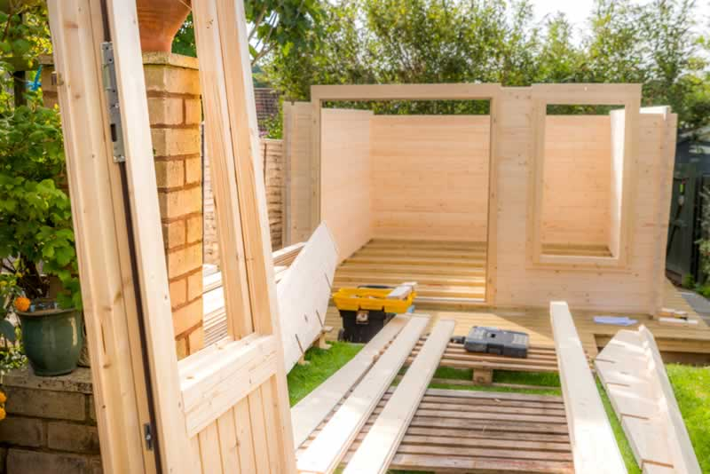 The Benefits of Building Your Own Shed Vs Buying - shed in progress
