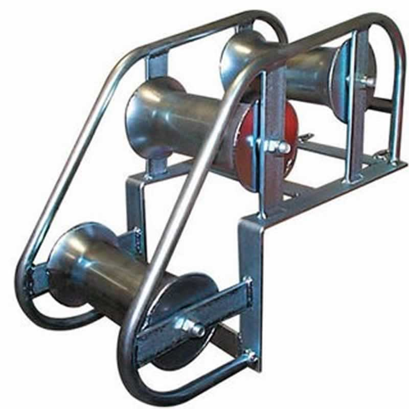 Cable Rollers for Wire Pulling - manhole cable roller