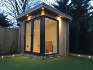 How to Create a Dream Office in Your Garden - corner office