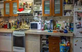 A Guide on How to Clean a Cluttered House Fast - cluttered kitchen