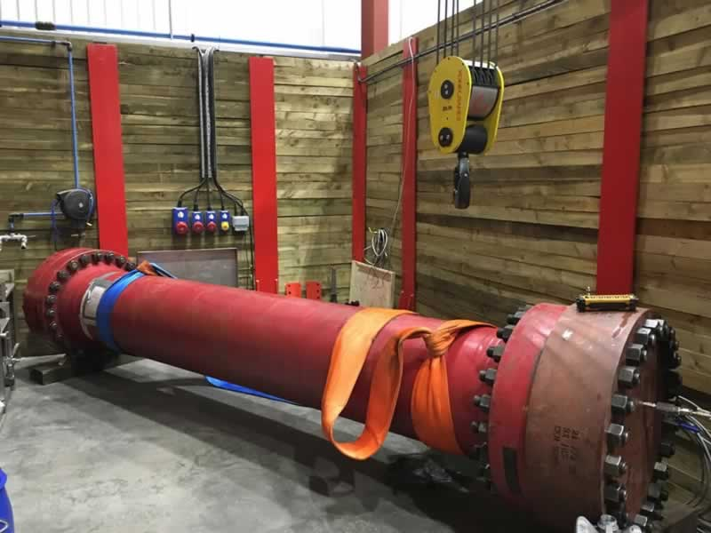 How is a hydrostatic test performed