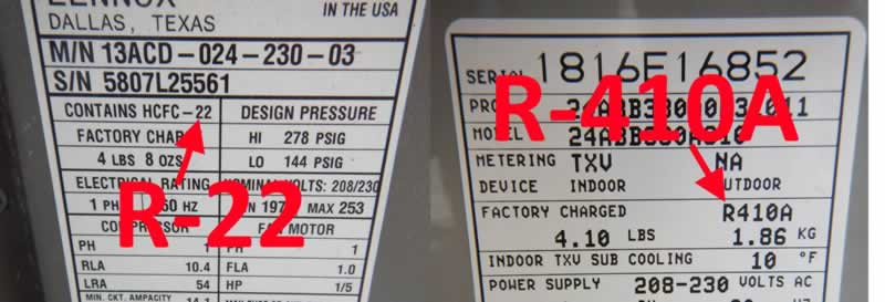 3 Reasons You Should Check Your HVAC For R-22 - label