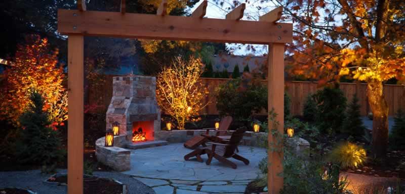 Golden Landscaping Ideas for Autumn - patio