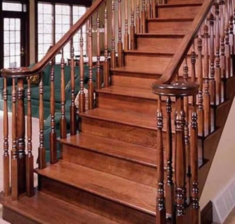 Handrail Designs for stylish staircase - wooden handrails