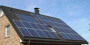 Shifting to Solar Electricity - roof with solar panels