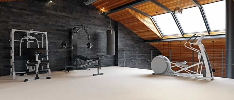 Tips for building your own home gym- loft gym