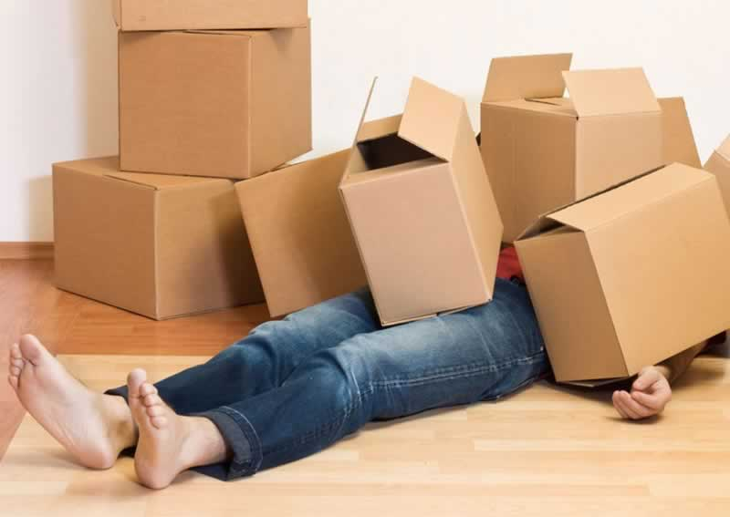 What to Do When Moving House - boxes