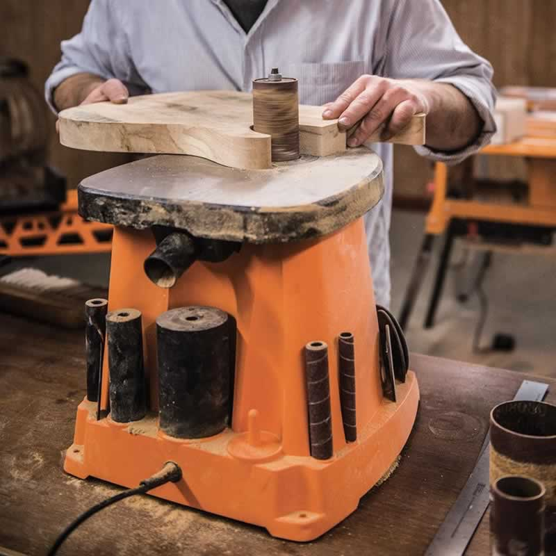 Why you should get an oscillating spindle sander - sanding