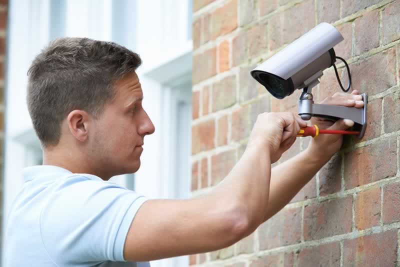 Home Projects DIY or Call a Professional - installing security system