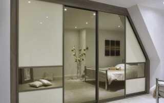 Installing sliding wardrobe doors - made to measure