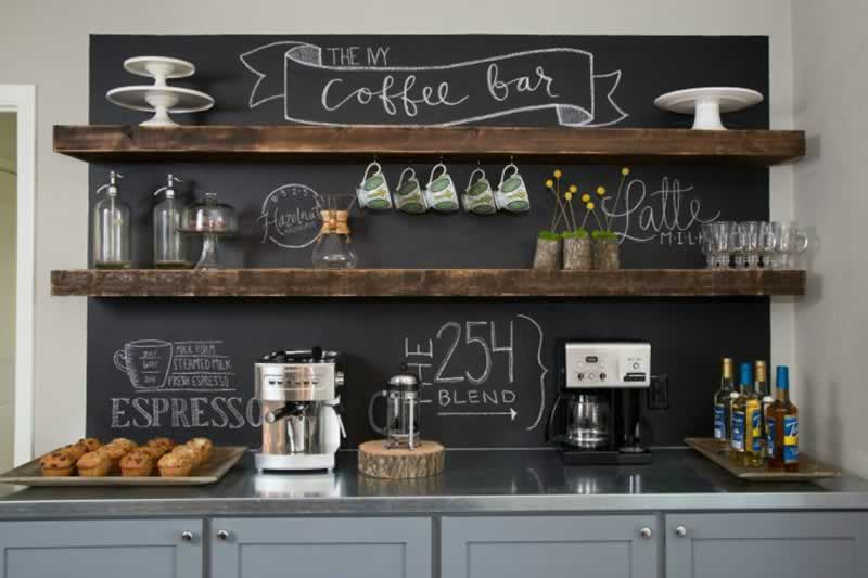 Smart Ideas for Organizing Your Kitchen Coffee Bar - amazing bar