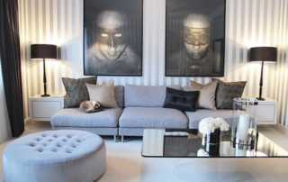 How To Incorporate Metallic Accents In Any Room - living room