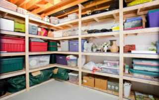 How to Organize a Messy Basement - organized basement