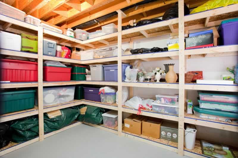 How to Organize a Messy Basement - organized basement