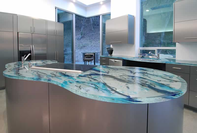 Replacing Your Kitchen Countertops - glass kitchen countertop