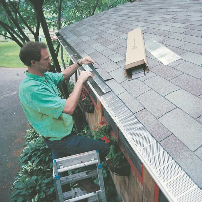 Selecting the Best Gutter Guards and Installation Options - installing