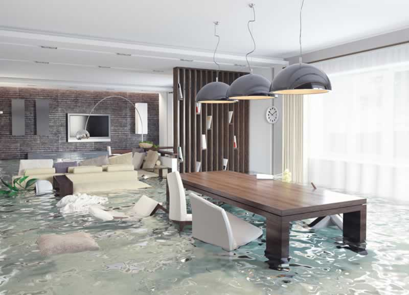 10 Top Tips for Dealing with Flooding Homes - flood in the kitchen