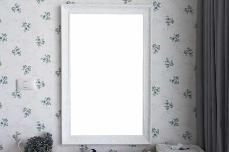Decorate Home with Full-Length Mirrors - white mirror