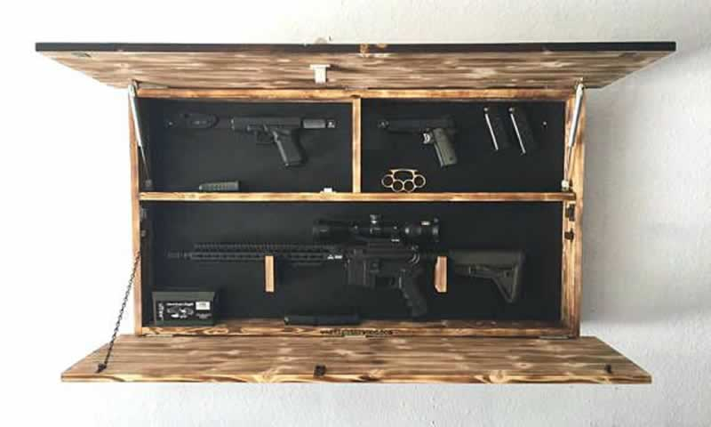 How to Make a DIY Gun Cabinet - finished cabinet