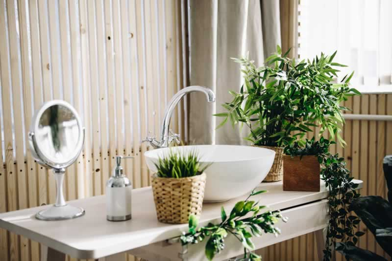 How To Spice Up Your Home's Look With Plastic Plants - bathroom
