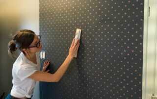 DIY hanging wallpaper