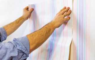 DIY hanging wallpaper - arranging