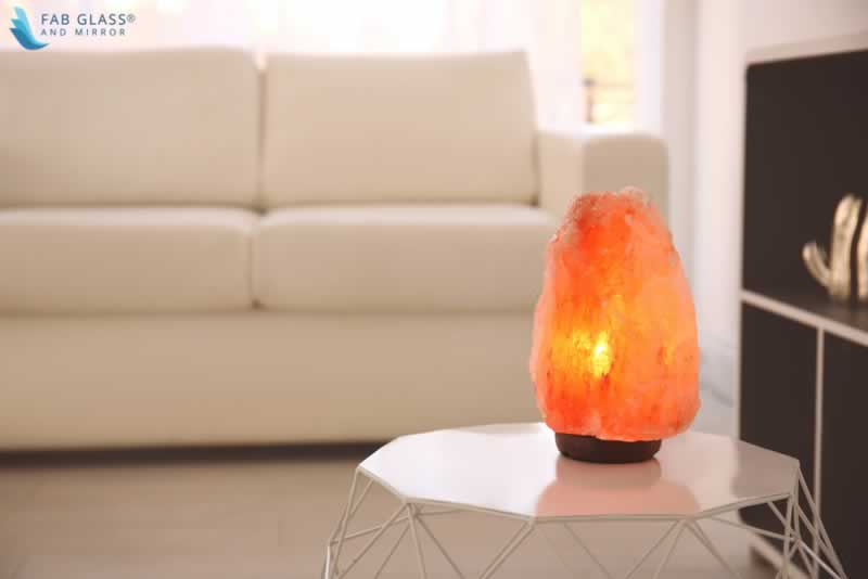 DO SALT LAMPS HELP IN IMPROVING SLEEPING PATTERN - salt lamp on table