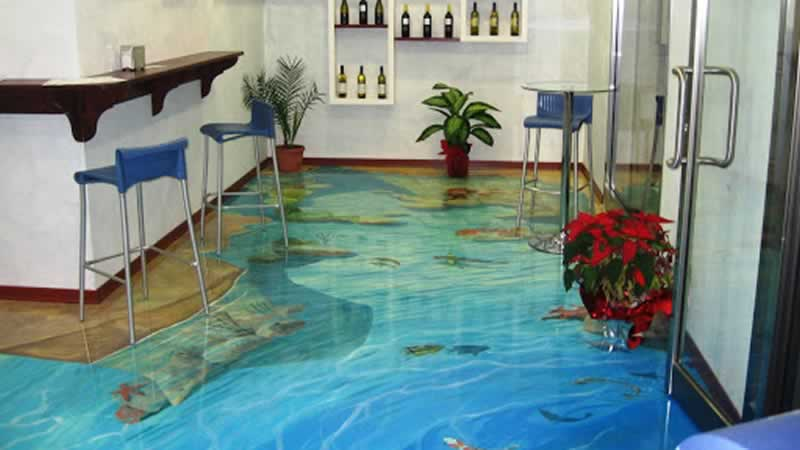 How To Use Industrial Epoxy Flooring in the Field - 3D epoxy flooring