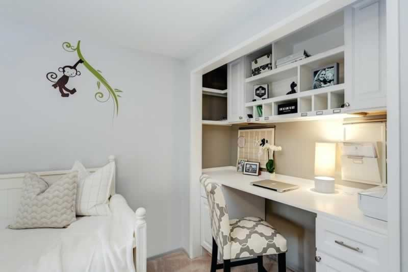 Tips for Turning Closet into Home Office - beautiful home office