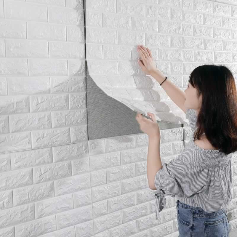 Tips on Installing Peel and Stick Wallpaper - applying wallpaper
