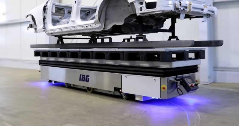 Top Benefits of Automated Guided Vehicles - AGV carries car