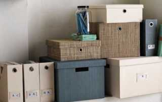 4 DIY Projects That Will Help You Create the Home Office of Your Dreams - storage boxes