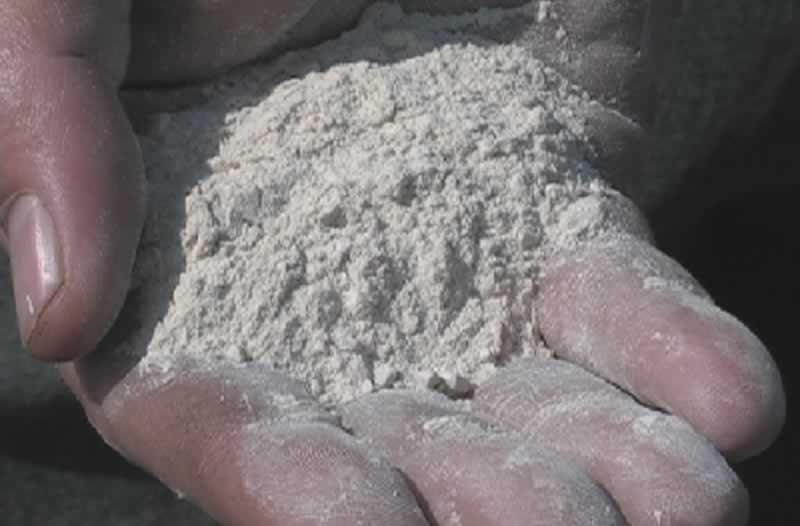 How to Make Homemade Concrete - pulverized limestone