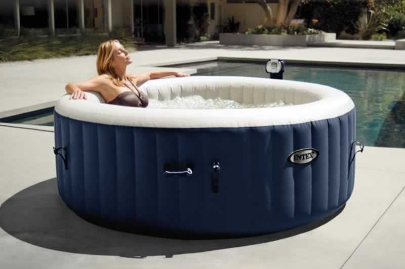 Learn to Set Up Your Inflatable Hot Tub Like A Professional - girl in hot tub