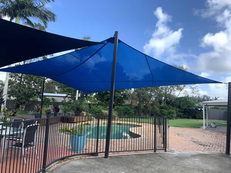 Shade Sails and Swimming Pool Evaporation Prevention