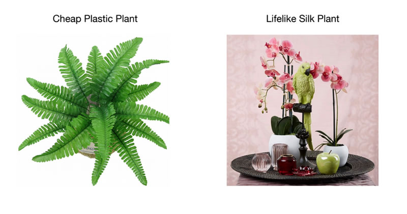 4 steps to help you choose fake plants and artificial flower arrangements