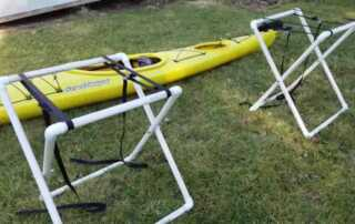 Building a cost-effective DIY kayak stand at home with clear instructions
