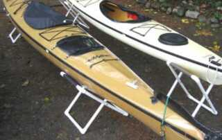 Building a cost-effective DIY kayak stand at home with clear instructions - finished stands