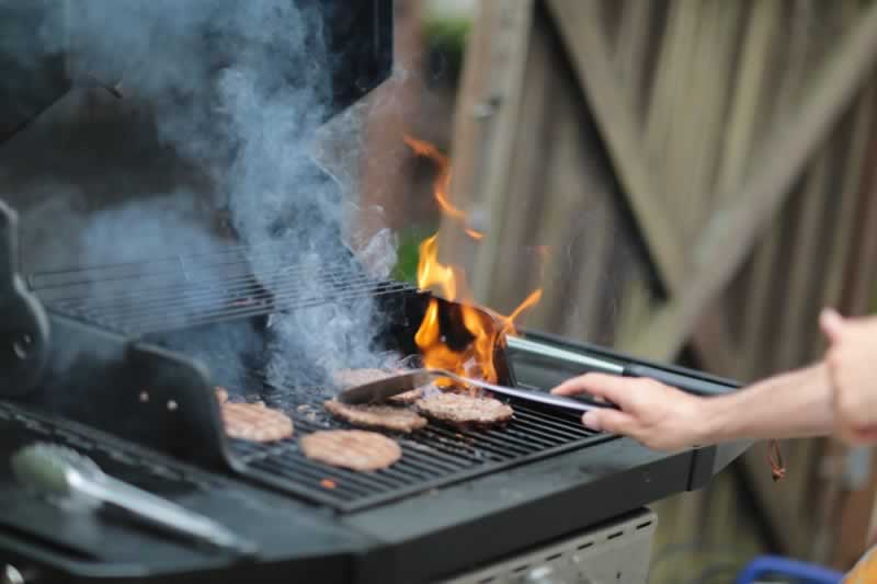 How to Setup a BBQ Area in a Small Backyard - compact grill