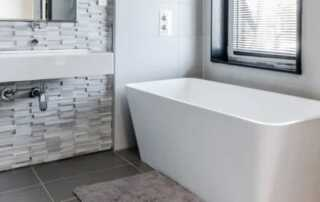 7 Ways To Make A Smaller Bathroom Look Twice Its Size - floating vanity