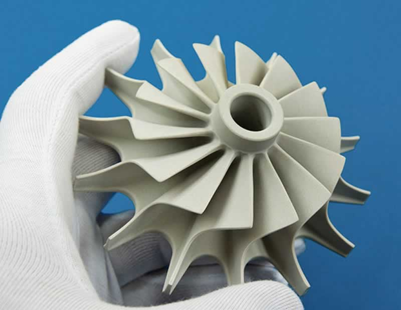 Injection Molded Ceramics - turbine