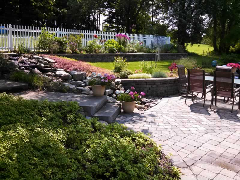 Landscaping and Hardscaping – backyard patio